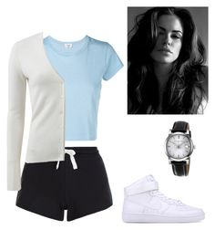 """""""Untitled #145"""" by yasminabuwi on Polyvore featuring RE/DONE, NIKE, New Look, Michael Kors and Burberry"""