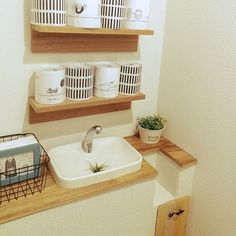 I tried to join Ole Excel / toilet tank Hidden DIY / event! interior example of such - Toilet Room, Interior Decorating, Interior Design, Floating Shelves, Storage Spaces, Diy And Crafts, New Homes, Bathroom, Wood