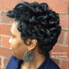 Natural Hair Silk Press, Cut & Style.
