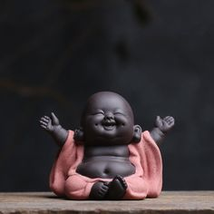 smiling buddha colorful clay tea pet home decoration lovely monk mini tea play for sale online Thai Buddha, Buddha Kopf, Buddha Kunst, Chinese Buddha, Buddha Art, Chinese Tea, Smiling Buddha, Baby Buddha, Little Buddha