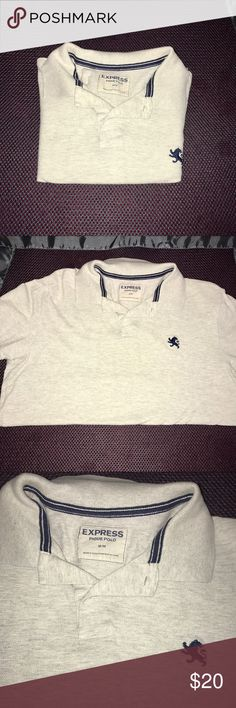 • Express gray shirt Size M • Brand: Express Color: Gray Size: M   • GREAT MATERIAL SUPER SOFT • Used only once, but in great conditions. This Express Shirt is great to go to a party, Cook out, Family get together, Church, Work, Meeting etc.  Feel free to ask any questions or make reasonable offers. Express Shirts Polos