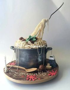 Gravity cake plat de pates