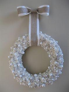 Pearl Christmas wreaths