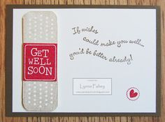 "Stampin Up Demonstrator - Lynne Fahey (Spiralz and Curlz): ""Get Well Soon"" card swap....."