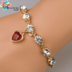 3 Color 2014 Flower Girl Factory Direct  Fashion Jewelry 18K Gold Lovely Ladies Heart Bracelet For Women[3263 A27]-in Charm Bracelets from Jewelry on Aliexpress.com | Alibaba Group