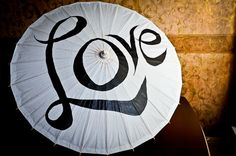 Large White Parasols or Umbrella for Weddings with Love