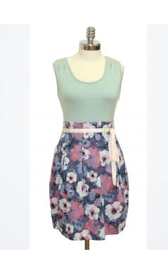 This trendy dress is the essence of a perfect spring day. #dress #spring #fashion #floral #80's