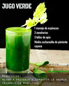 Jugo verde para combatir la anemia. #jugosverdes #anemia #salud