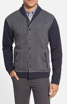 ebeb0bc46678a9 Ted Baker London  Berdnor  Shawl Collar Cardigan Sweatshirt available at   Nordstrom Shawl Collar