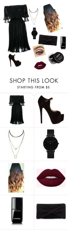 """""""blackish"""" by raichelthomas ❤ liked on Polyvore featuring Alexander McQueen, CLUSE, Chanel, Reiss and NYX"""