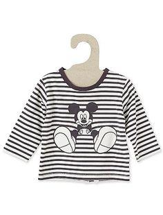 Tee-shirt rayé 'Mickey Mouse'                                                                                          blanc Bébé garçon