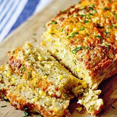 Cheddar, Chive & Corn Beer Bread!