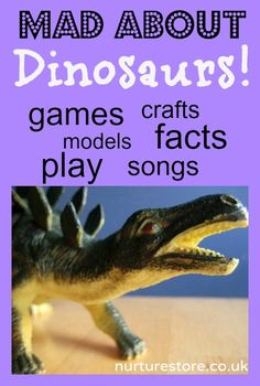 Dinosaur activities : games, crafts, models, facts, play and songs. Great resource for a cross-curricular theme.