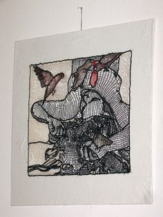 Love Birds by Penny Nickels, needle lace