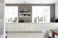 Scandinavian grey white kitchen