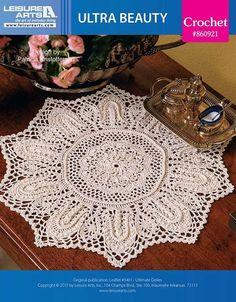 Summer Bouquet Doily Old-Time Favorites crochet pattern leaflet