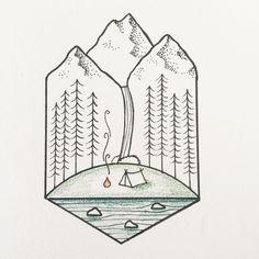 Wouldn't this be just the perfect place to camp #tattoo #gettingcloser #camping…
