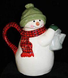 Hallmark Mitford Christmas Collectable Snowman Teapot Tea Pot Teapot | eBay