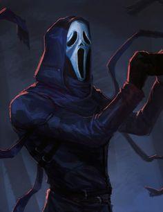 Dead By Daylight Fanart, Ghostface Scream, Big Scary, Horror Icons, Batman, Darth Vader, Superhero, Fictional Characters, Wallpaper