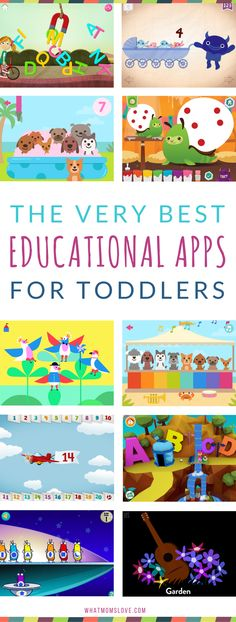 Best Educational Apps for toddlers | Fun learning apps for kids for iPad, iPhone and Android - perfect for children age 2-5 years old | Tools to learn sight words, letters, phonics, counting, math and more!