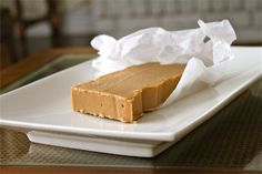 French-Canadian Sucre a la Creme. This is an indulgent, creamy, sugary treat that is served in tiny portions because it's so sweet and rich.