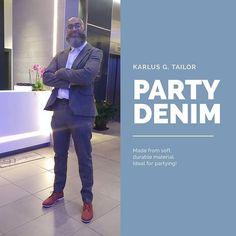 Ready for them. Out out. Khaki green denim suit. . . . . . . . karlusg-tailor.co.uk  @greevesberry #green #khaki #denim #jeans #bespoke #suit #partytime #designer #tailor #sharp #imadethis #craftsman #essentials #model #slowfashion #photography #instaart #blackmanstyle #fashioninspo #essence #gqstyle #lifestyle #blazer #outout #soulsociety #manchester #madeinuk #beardgang #karlusgstudio #karlusgtailor Denim Suit, Denim Jeans, Bespoke Suit, Gq Style, Beard Gang, Made In Uk, Khaki Green, Slow Fashion, Insta Art