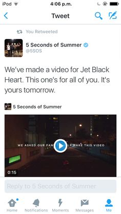 Jet Black Heart Is Premiering Tomorrow Who Sent The Boys An Email With Your Story