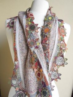 French Needle's Guinievre linen scarf. sigh....