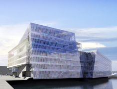 Harpa Concert Hall and Conference Center designed by Henning Larsen Architects with Olafur Eliasson and Artec.  Read more: Iceland's Luminous New Harpa Concert Hall Nears Completion | Inhabitat - Green Design Will Save the World