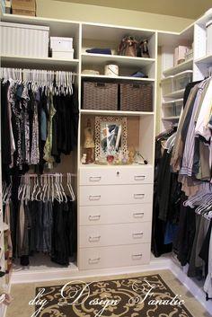 Master closet-so adorable!!! Love the perfume display