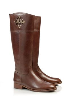 I wish I could afford some Tory's ;(( (Now accepting donations). Classic riding boots by Tory Burch #fallmusthave
