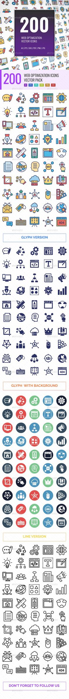 Buy 200 Web Optimization Vector Icons Pack by ranksol on GraphicRiver. 200 Web Optimization Vector Icons Vector Icons Set Here is useful and trendy SEO and marketing, Hope you can find a g. Shape Design, Icon Design, Design Art, Best Icons, Icon Pack, Line Icon, Vector Icons, Icon Set, Web Development