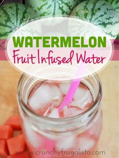 This is my super sneaky way to keep myself hydrated. If you hate drinking water, you should try this fruit infused water recipe. Try this Watermelon Fruit Infused Water!  So easy to make and tastes delicious! Click the pin for the full recipe.
