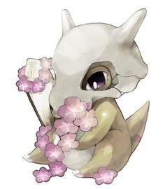 Imagen de pokemon, cubone, and flowers