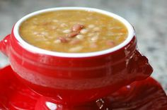 Navy Bean Soup made with the bone left from your holiday ham.  One of my most popular recipes!