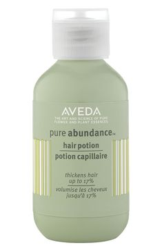 Aveda - Pure Abundance™ hair potion -good for oily hair to add volume, hair looks more matte Hair Thickening, Second Day Hairstyles, Cool Hairstyles, Damp Hair Styles, Natural Hair Styles, Hair Volume Spray, Lotion, Hair Treatments, Hair
