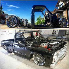 Awsome in progress Vintage Chevy Trucks, 67 72 Chevy Truck, Classic Chevy Trucks, Chevy C10, Chevy Pickups, Chevrolet Trucks, Bagged Trucks, Lowered Trucks, C10 Trucks