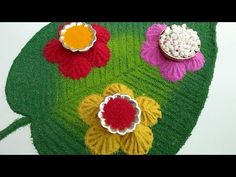 Sankranti special rangoli/Haldi Kumkum rangoli - YouTube Easy Rangoli Designs Diwali, Indian Rangoli Designs, Simple Rangoli Designs Images, Rangoli Designs Latest, Rangoli Designs Flower, Latest Rangoli, Colorful Rangoli Designs, Rangoli Ideas, Flower Rangoli