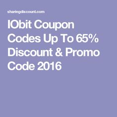 IObit Coupon Codes Up To 65% Discount & Promo Code 2016