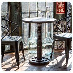 #Bar #industrial #Style #Estilo #Negro #Black #Metal #Chair #Silla #Idea #Homy #inspiración