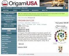 """Link do Origami USA para compra do livro """"Origami em Flor"""", de Flaviane Koti e Vera Young."""