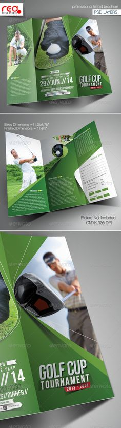 Charity Golf Booklet Template Booklet template, Golf and Template - booklet template