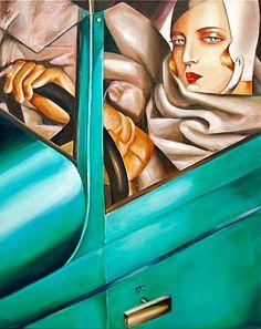 art deco  Tamara Lempicka, auto portrait