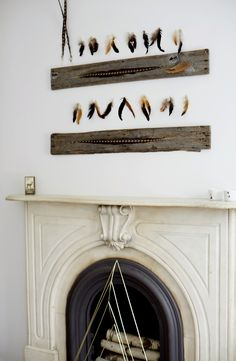 An Easy, Affordable DIY Feather Idea for Your Walls | Lonny.com