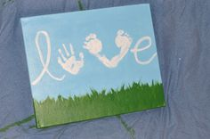 Love-kids feet art canvas