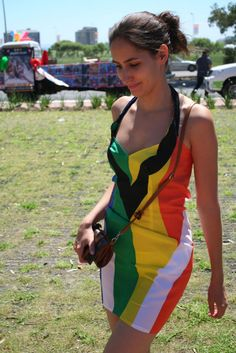 Cool South African Flag Dress