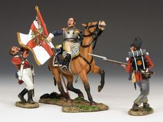 Napoleon's Grande Armee NA216 Seizing the Colours - Made by King and Country Military Miniatures and Models. Factory made, hand assembled, painted and boxed in a padded decorative box. Excellent gift for the enthusiast.