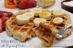 lightened up protein waffles