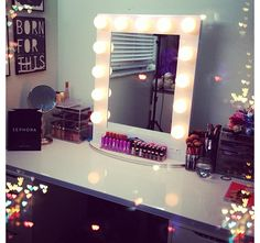 Need to find the perfect makeup table...like this.
