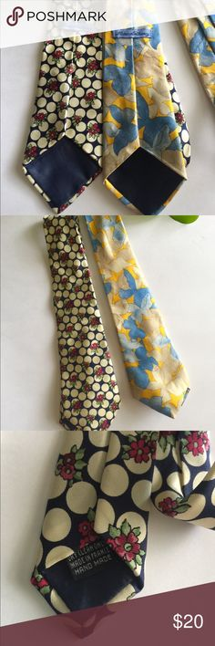 Pair of Handmade France Marc Anthony Ties Pair of silk made in France Marc Anthony Ties. OS.. hard to tell but the dark one is navy, hard to tell in the photos..best represented in tag photo.. both great condition! Marc Anthony Accessories Ties